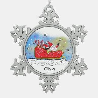 Tillie Tuppet Snowflake Pewter Christmas Ornament