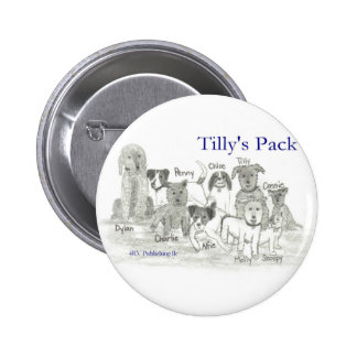 Tilly's Pack 2 Inch Round Button