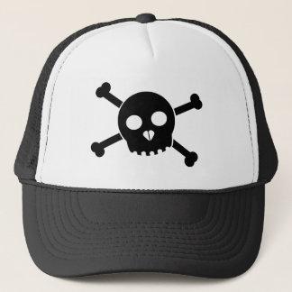 Tilted Black Deth's Head Hat