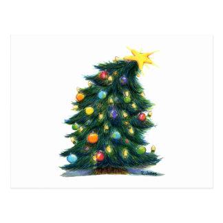 TILTED CHRISTMAS POSTCARD