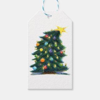 Tilted Christmas Tree Gift Tags