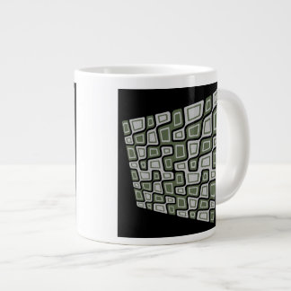 Tilted Squares Large Coffee Mug