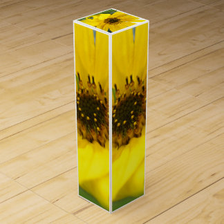 Tilted Sunflower Wine Gift Box