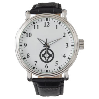 Tilted well frame in circle watch