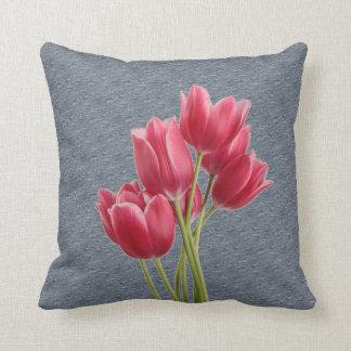 Tilting Tulips Throw Pillow