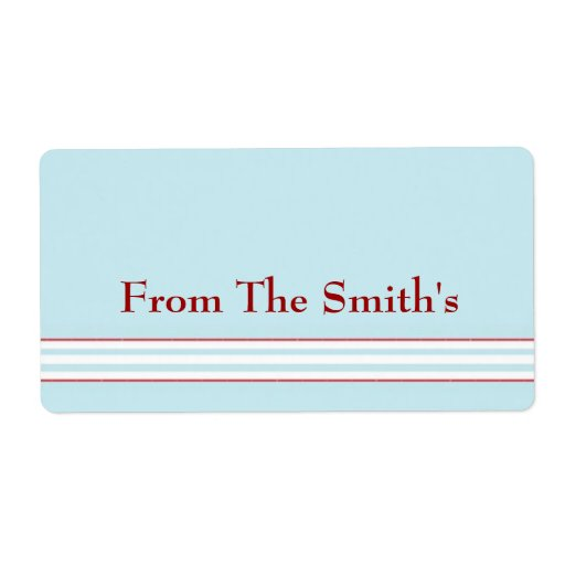 Tilton - Mint Blue - Gift Tag Shipping Labels