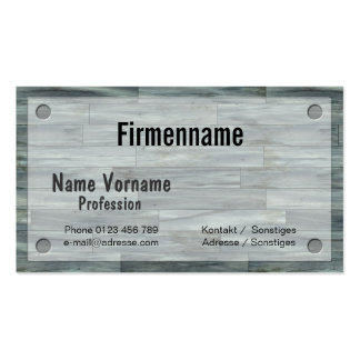 Timber flooring business card template