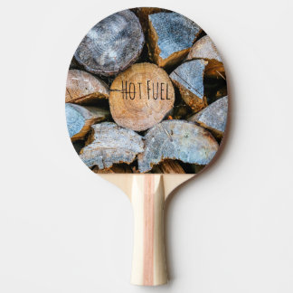 Timber - Hot Fuel Ping Pong Paddle