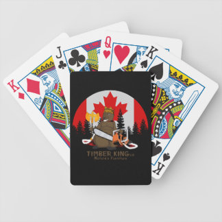 Timber King Log and Stone Furniture Bicycle Playing Cards