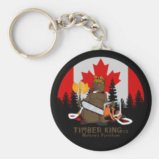 Timber King Log and Stone Furniture Keychain