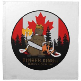 Timber King Log and Stone Furniture Printed Napkin