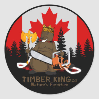 Timber King Log and Stone Furniture Round Sticker