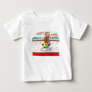 Timber the beaver skates the canal baby T-Shirt