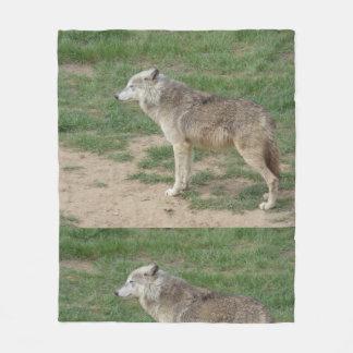 Timber Wolf Canine Fleece Blanket