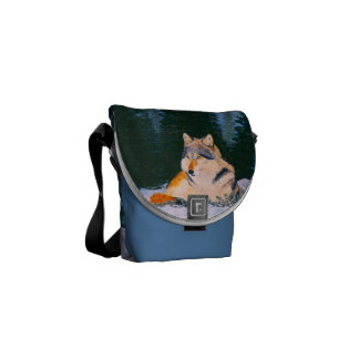 Timber Wolf Mini Messenger Bag