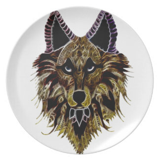 Timber Wolf Party Plate