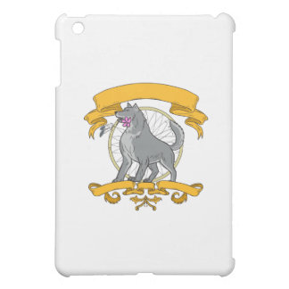Timber Wolf Plumeria Flower Dreamcatcher Drawing iPad Mini Cases