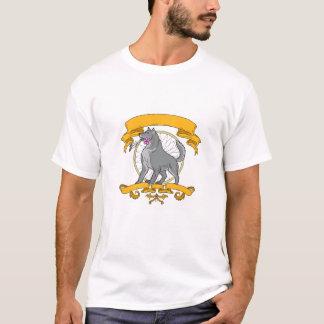 Timber Wolf Plumeria Flower Dreamcatcher Drawing T-Shirt