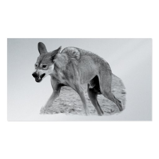 Timber Wolf Snarl Business Card