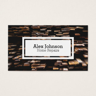 Timber wood Home repair business card