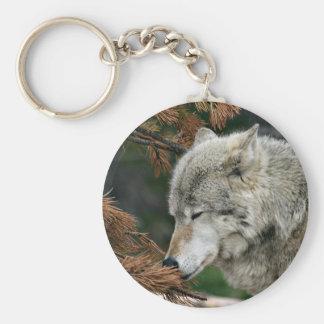 Timberwolf Keychain