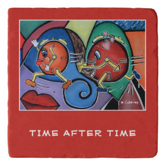 Time After Time On Red  Pieces Trivet