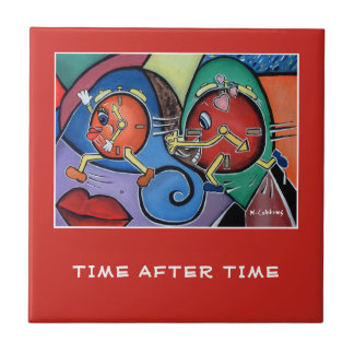 Time After Time  - Red - Time Pieces Tile