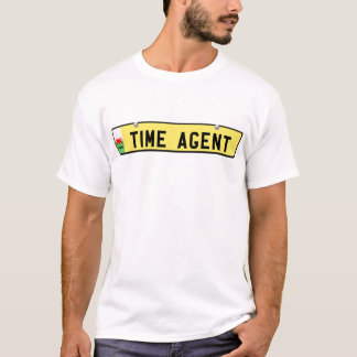 TIME AGENT - Welsh license plate T-Shirt