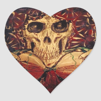 time and death heart sticker