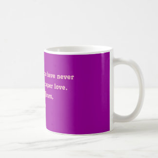 Time and distance have never been able to conqu... coffee mug