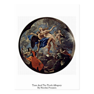 Time And The Truth Allegory By Nicolas Poussin Postcard