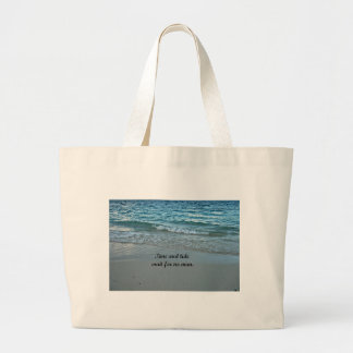 Time and tide wait for no one. large tote bag