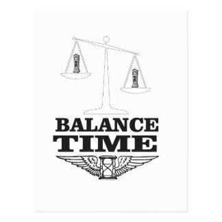 time balance tip postcard