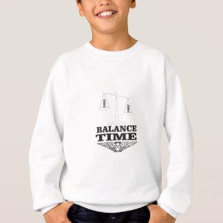 time balance tip sweatshirt