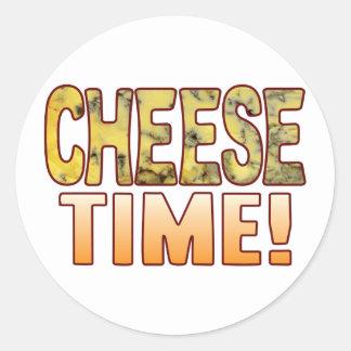 Time Blue Cheese Round Sticker