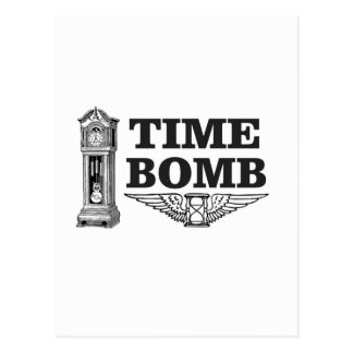 time bomb strikes postcard