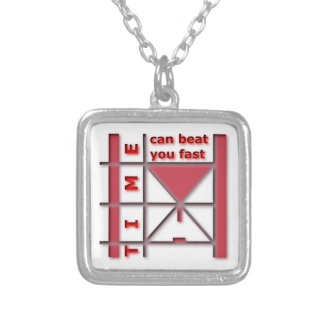 Time Can Beat You Fast Silver Plated Necklace