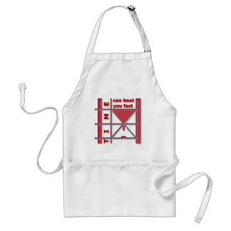 Time Can Beat You Fast Standard Apron