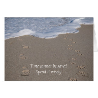 Time cannot be saved, Spend it wisely Card
