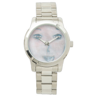 Time Face The Visitor, Art, Silver Bracelet Watch