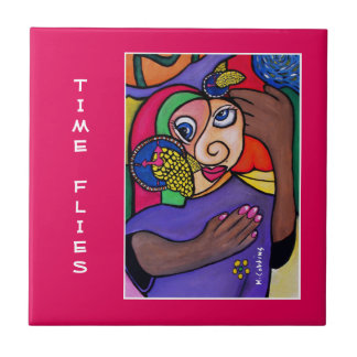 Time Flies - Time Pieces Tile
