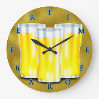 Time for A Beer Gold Edition Clock