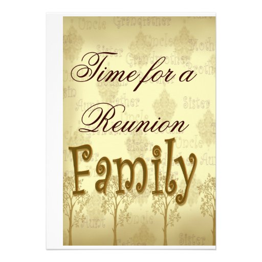 Time for a Family Reunion Custom Announcement