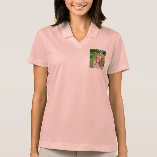 Time for a Ride - Retro Pin-up Girl Polos
