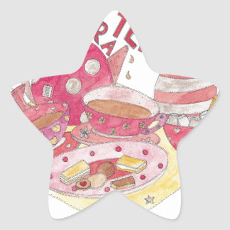 Time For A Tea Party Star Sticker