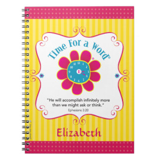 """""""Time for a Word®"""" personalized notebook"""