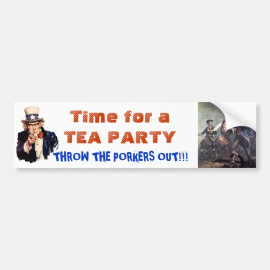 Time for Another Tea Party America! Bumper Sticker