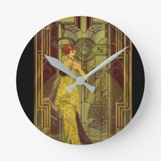 Time for Art Deco Round Clock