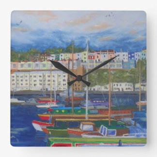 Time for Bristol Marina Square Wall Clock
