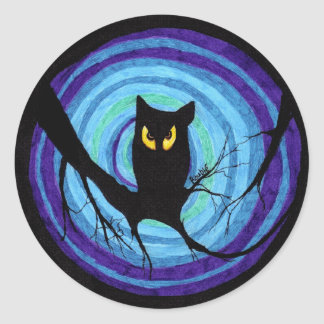 time for child stories: the EVIL OWL Classic Round Sticker